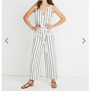 Striped Pull-On Jumpsuit